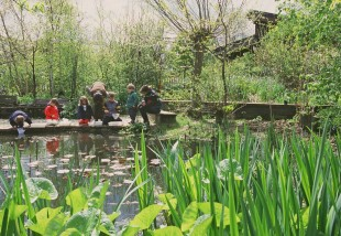 children near pond1